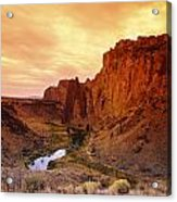 Sunset At Smith Rock Acrylic Print