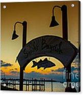 Sunset At Snooks Bayside Acrylic Print