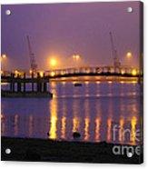 Sunset At Southampton Docks Acrylic Print by Terri Waters