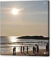 Sunset At Southern Point Of India Acrylic Print
