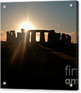 Sunset At Stonehenge 3 Acrylic Print by Deborah Smolinske