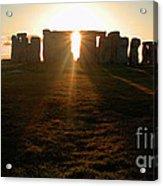 Sunset At Stonehenge 4 Acrylic Print by Deborah Smolinske