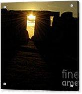 Sunset At Stonehenge 5 Acrylic Print by Deborah Smolinske