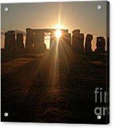 Sunset At Stonehenge 6 Acrylic Print by Deborah Smolinske