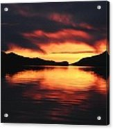 Sunset At Sumdum Acrylic Print