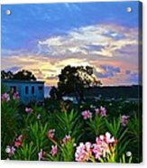 Sunset At Tasty's In Anguilla Acrylic Print