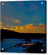 Sunset At The Green Bridge Acrylic Print