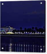 Sunset At The Iconic St. Petersburg Pier Acrylic Print