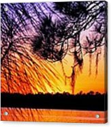 Sunset At The Lake 2 Acrylic Print by Will Boutin Photos
