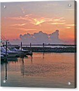 Sunset At The Marina Acrylic Print