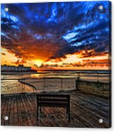 sunset at the port of Tel Aviv Acrylic Print