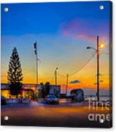 Sunset At The Post Acrylic Print