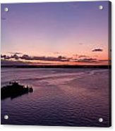 Sunset At The River Acrylic Print