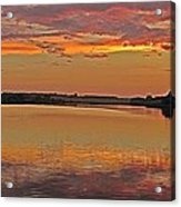 Sunset At The Rostavytsia_1 Acrylic Print