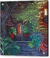 Sunset At The Villa Acrylic Print