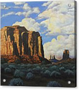 Sunset At The Window Monument Valley Acrylic Print