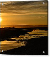 Sunset At Twin Spits Acrylic Print