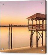 Sunset At Tybee Acrylic Print