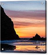 Sunset At Whalehead Beach Acrylic Print