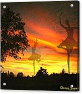 Sunset Ballerina Acrylic Print