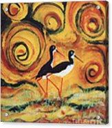Sunset Ballet Acrylic Print by Anna Skaradzinska