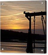 Sunset Barge  Acrylic Print by Eugene Bergeron