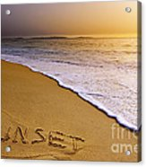 Sunset Beach Acrylic Print by Carlos Caetano