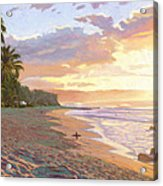 Sunset Beach - Oahu Acrylic Print