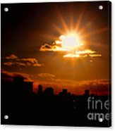 Sunset Behind Ft. Lauderdale By Diana Sainz Acrylic Print