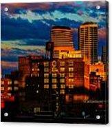 Sunset Behind Target Field Acrylic Print