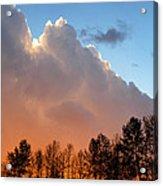 Sunset Between Storm Cells Acrylic Print