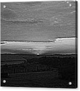 Sunset Black And White Acrylic Print by Beverly Hammond