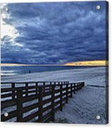 Sunset Boardwalk Acrylic Print by Michael Thomas