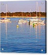 Sunset Boats Acrylic Print