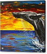 Sunset Breach Acrylic Print