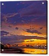 Sunset By Causeway Bridge Acrylic Print
