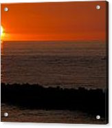 Sunset By The Sea Of Japan Acrylic Print