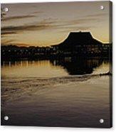 Sunset Canoe Acrylic Print