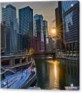 Sunset Chicago Acrylic Print