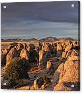 Sunset City Of Rocks Acrylic Print