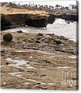 Sunset Cliffs Shoreline 2 Acrylic Print