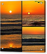 Sunset Collage Acrylic Print