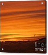 Sunset - Coucher De Soleil - Plaine Des Cafres - Ile De La Reunion - Reunion Island - Indian Ocean Acrylic Print by Francoise Leandre