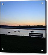 Sunset Courtmacsherry Co Cork Acrylic Print by Maeve O Connell