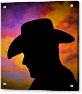 Sunset Cowboy Acrylic Print