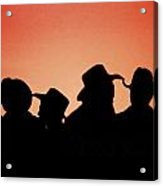 Sunset Cowboys Acrylic Print
