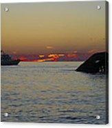 Sunset Cruise At Cape May Acrylic Print