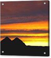 Sunset Death Valley Rectangular Img 0283 Acrylic Print