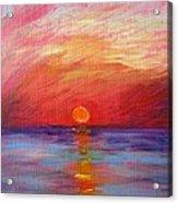 Sunset Delaware Bay Acrylic Print