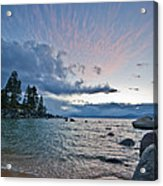 Sunset Drama At Tahoe Acrylic Print